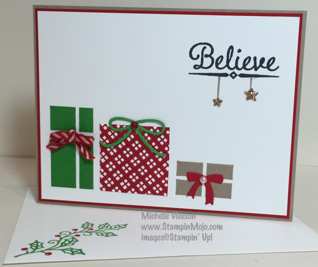 StampinMojo, Your Presents, PPA278, Lighthearted Leaves, Holly Jolly Greetings