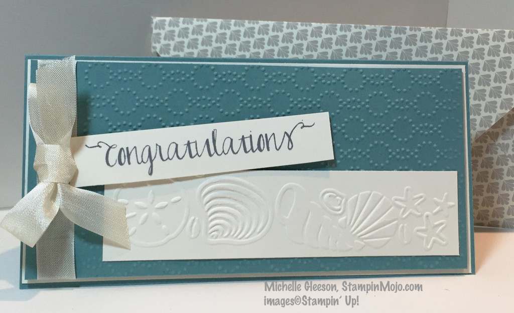 StampinMojo, Michelle Gleeson, Beach Wedding card