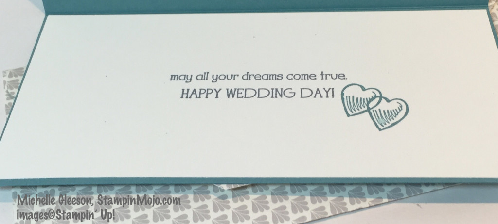 Beach Wedding Card, Inside Sentiment, StampinMojo