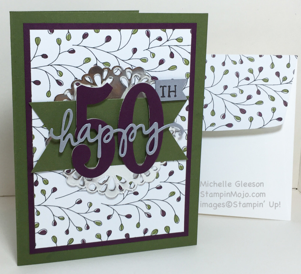 Celebrating 50, Card making, StampinMojo