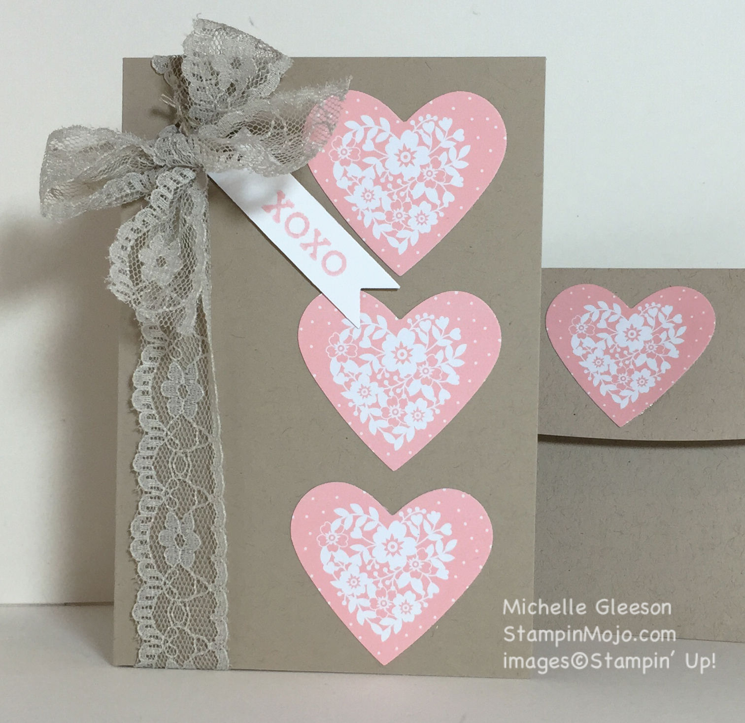 Quick Easy Valentine Card Stampin Mojo