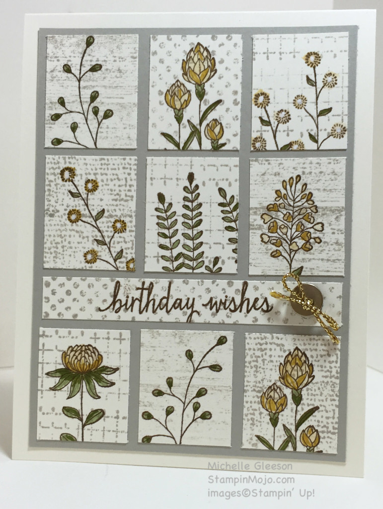 Flowering Fields, Birthday Wishes, StampinMojo