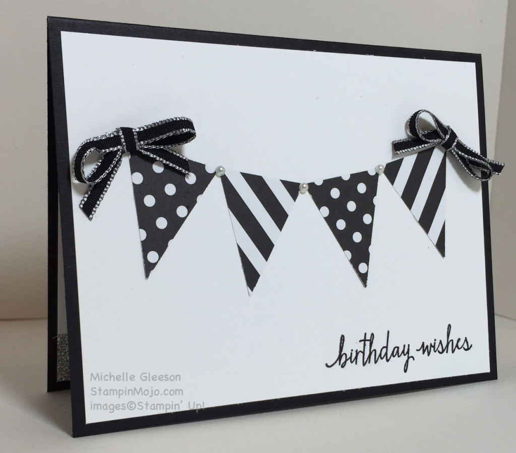 StampinMojo, Birthday, Petite Pennants Builder
