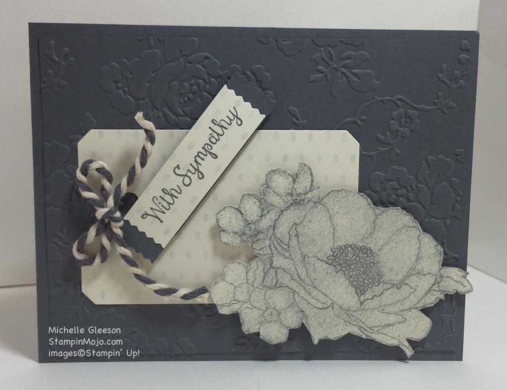 StampinMojo, PPA296, Timeless Elegance, DSP, Sympathy card
