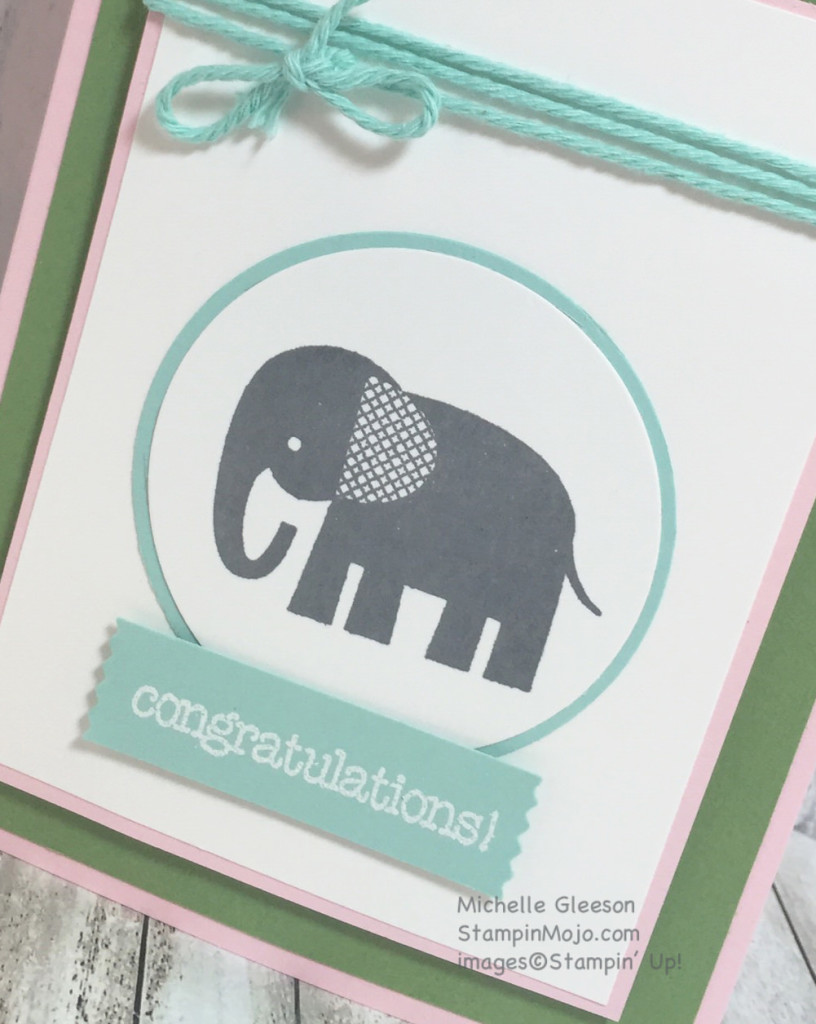 StampinMojo, Zoo Babies, Congratulations card, new baby