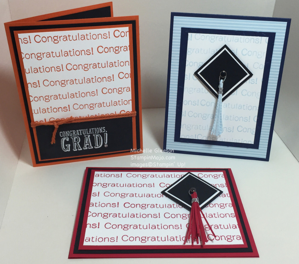 StampinMojo, Pals Blog Hop, Graduation cards