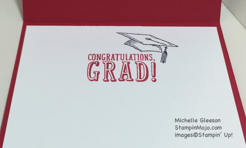 StampinMojo, graduation card