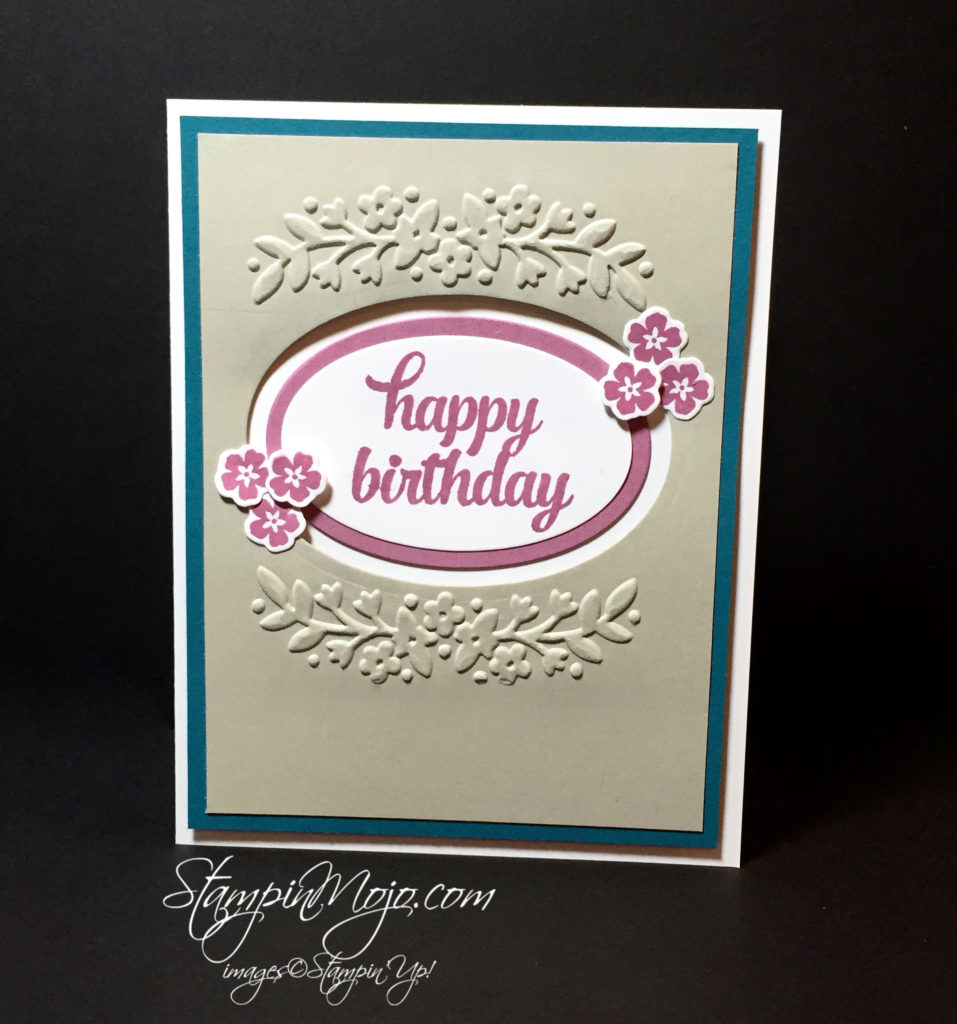 Stampin Up, Floral Affection Embossing Folder, birthday card - Michelle Gleeson, stampinup