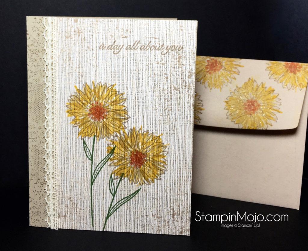 Sunflower Birthday Stampin Mojo – Stampin Up Birthday Card