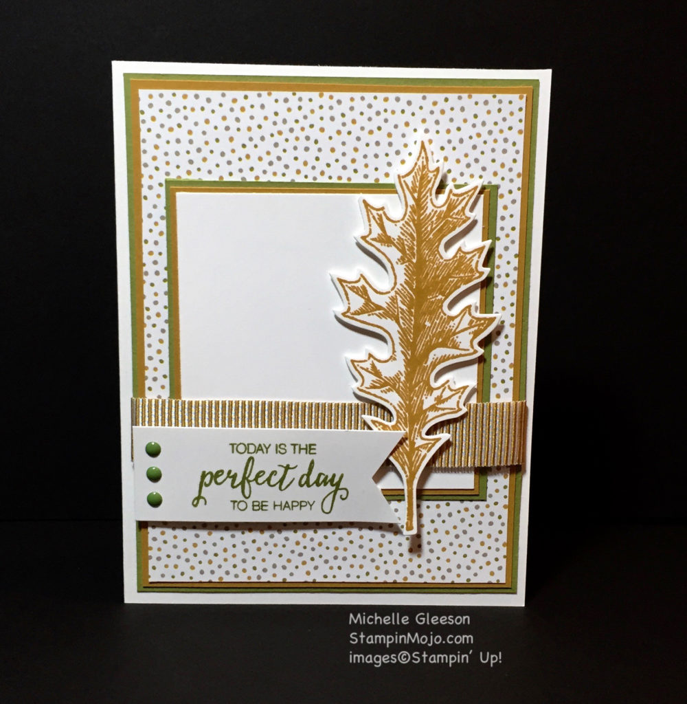 Stampin Up, Vintage Leaves, Birthday card idea - Michelle Gleeson, stampinup, StampinMojo