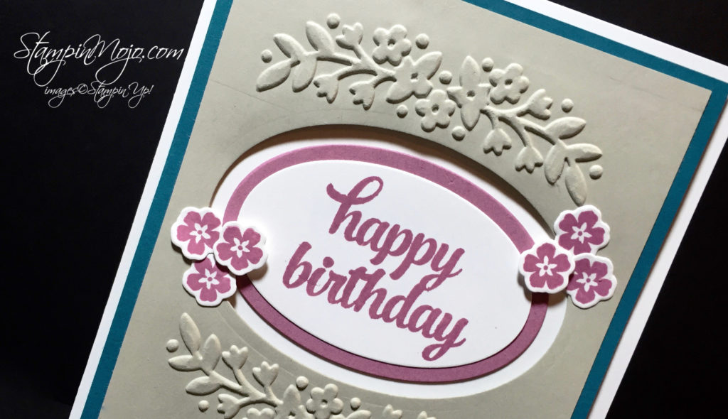 stampin up, Floral Affection Embossing Folder, birthday - Michelle Gleeson, stampinup