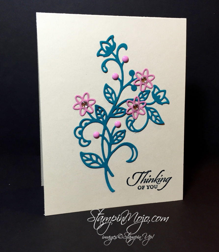 stampin up, Flourish Thinlits, Friendship card - Michelle Gleeson, Stampinup