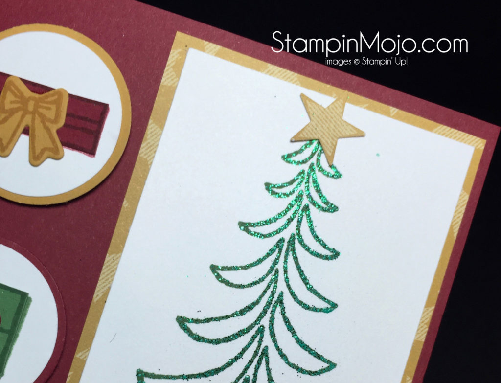 Stampin Up Emerald Envy Embossing Powder Christmas Card idea - Michelle Gleeson Stampinup