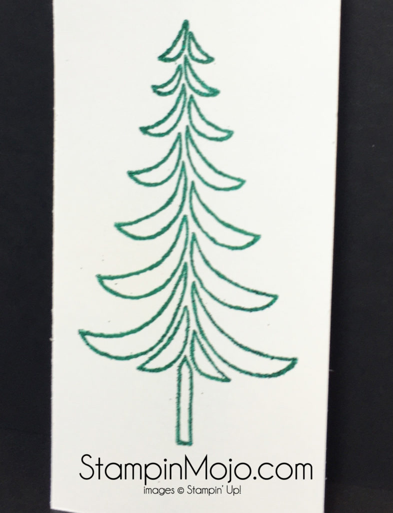 Stampin Up Emerald Envy ink and embossing powder technique Michelle Gleeson