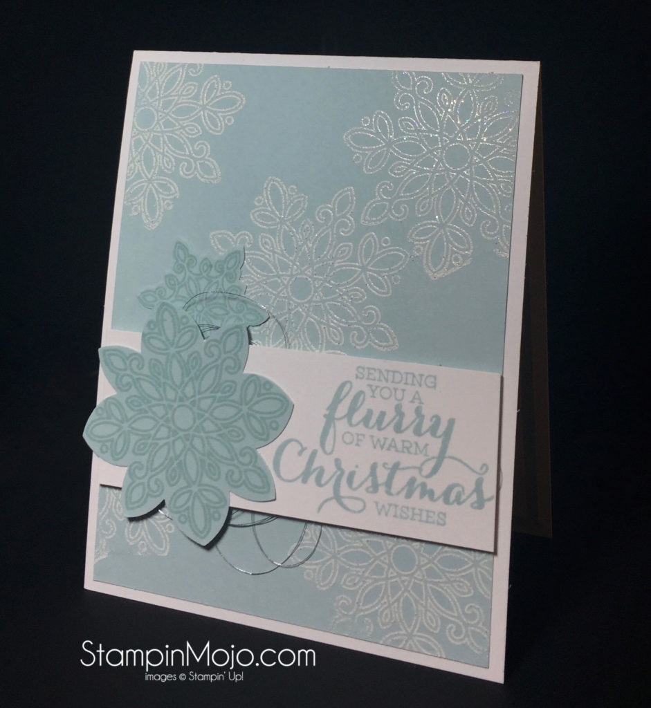 Stampin Up, Flurry of Wishes, Holiday Card - Michelle Gleeson, stampinup