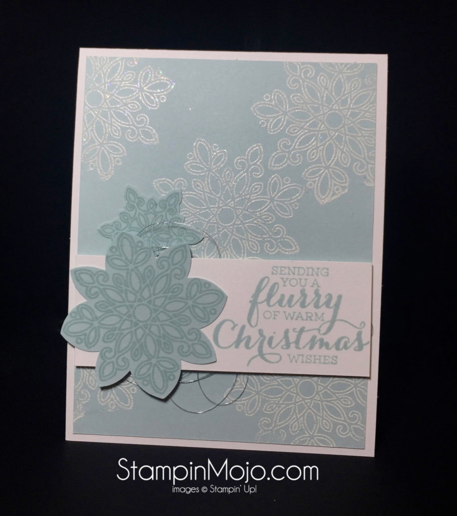 Stampin Up, Flurry of Wishes, Holiday card idea - Michelle Gleeson, stampinup