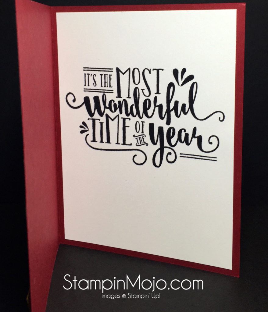 Stampin Up Wonderful Year Christmas Card idea - Michelle Gleeson Stampinup