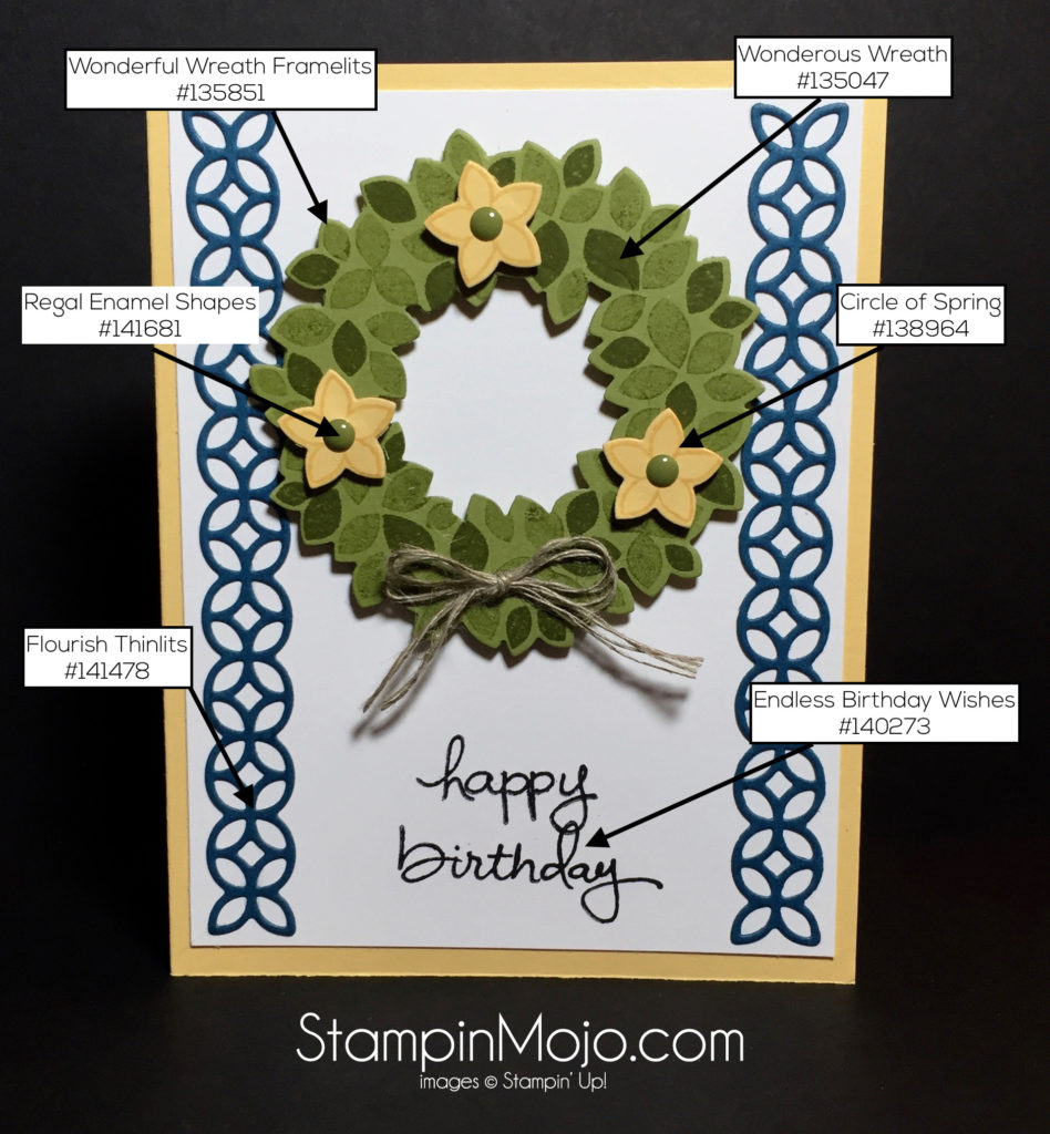 Stampin Up Wondrous Wreath Flourish Thinlits PPA315 - Michelle Gleeson