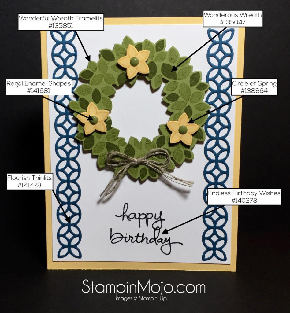 Stampin Up Wondrous Wreath Flourish Thinlits PPA315 - Michelle Gleeson
