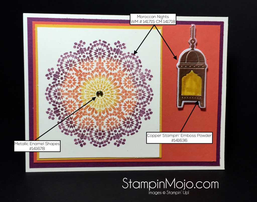 Stampin Up Moroccan Nights PPA317 - Michelle Gleeson SU