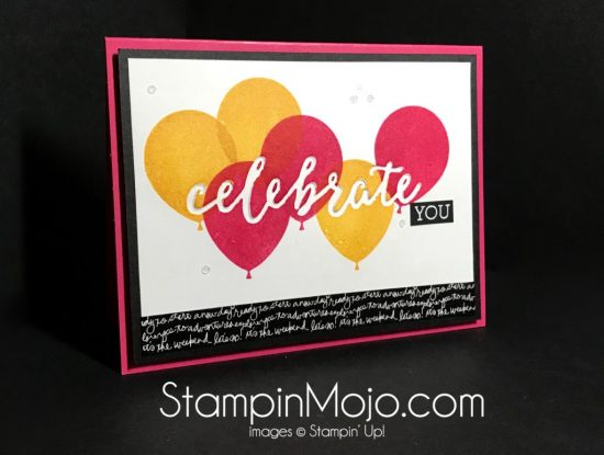 Stampin Up Celebrations Duo Balloon Adventures Birthday card Michelle Gleeson Stampinup