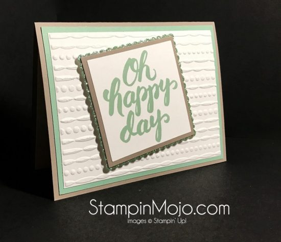 Stampin Up Festive Embossing Folder Scenic Sayings Birthday Card Michelle Gleeson Stampinup