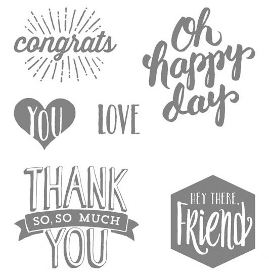 Stampin Up Scenic Sayings
