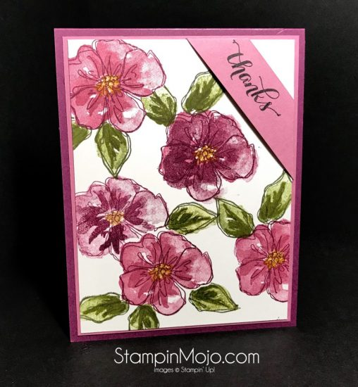 Stampin Up Another Thank You Penned & Painted Thank you card idea Michelle Gleeson Stampinup