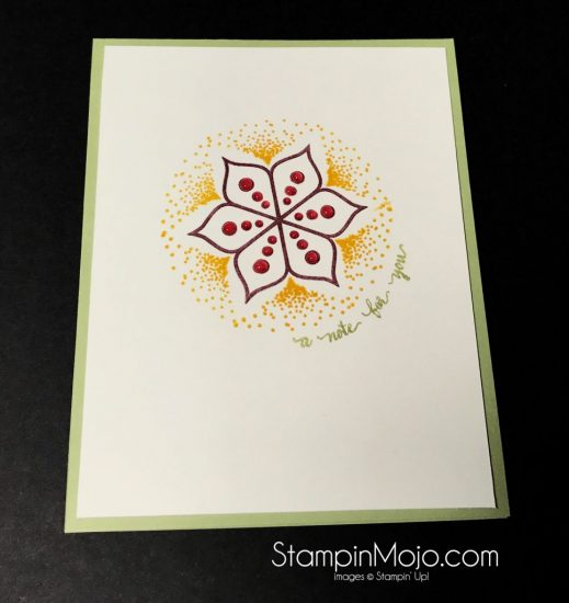Stampin Up Eastern Beauty Just a Note Michelle Gleeson Stampinup SU