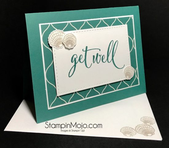Stampin Up Eastern Palace DSP Tranquil Tide Get Well Wishes Michelle Gleeson Stampinup