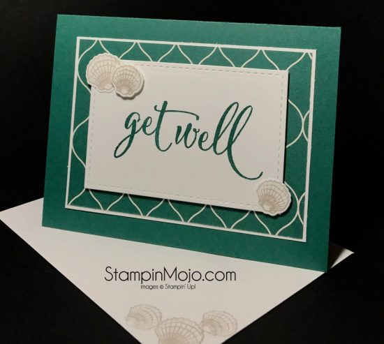 StampinUp Tranquil Tide Eastern Palace DSP Get Well card idea Michelle Gleeson Stampinup
