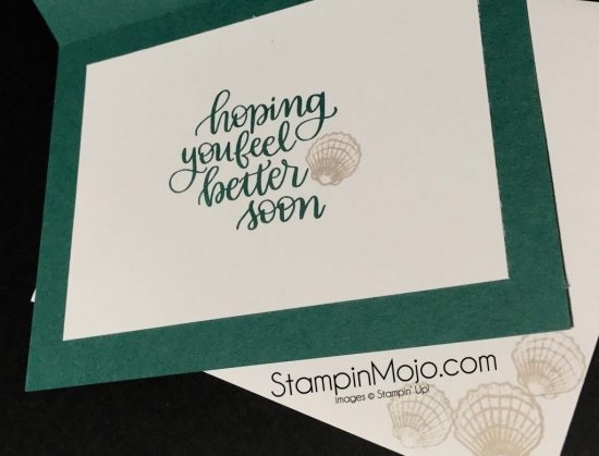 Stampinmojo Michelle Gleeson SSS Handlettered Encouragement