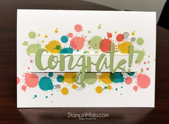 Stampin Up Gorgeous Grunge Simon Says Stamps Painted Congrats Congrats card idea Michelle Gleeson