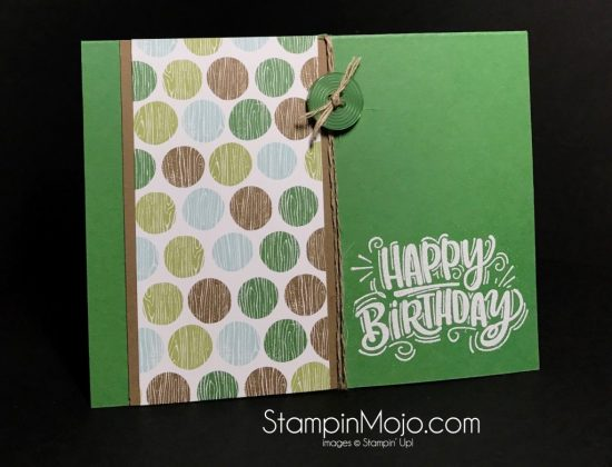 Masculine Birthday Card For Tic Tac Toe Challenge 001 Stampin Mojo