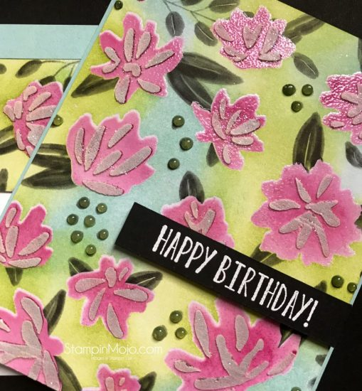 Concordand9th Floral Fill in Stencils and DSP SU In Colors Birthday card GDP 093 Michelle Gleeson