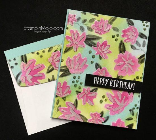 GDP093 Concordand9th Floral Fill in Stencils and DSP SU In-Colors Birthday card Michelle Gleeson