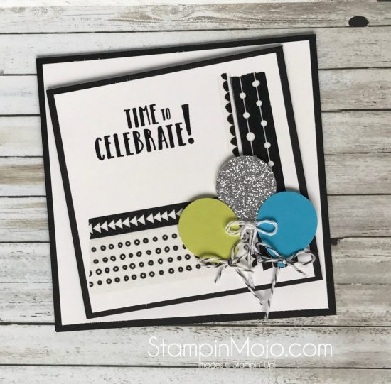 Stampin UP Celebration Time FMS 297 Birthday Card Michelle Gleeson Stampinup SU