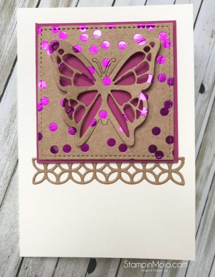 Stampin Up Berry Burst Foil Frenzy You Move Me Flourish Thinlits Michelle Gleeson Stampinup SU