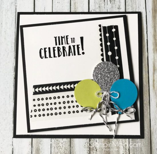 Stampin Up Birthday Card idea Michelle Gleeson Celebration Time FMS297 Stampinup SU