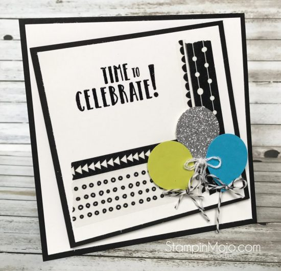 Stampin Up Celebration Time FMS297 Birthday card idea Michelle Gleeson Stampinup SU