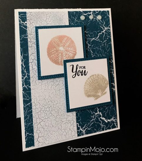 Stampin Up Masculine Card idea So Many Shells Stampinup SU