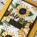 Stampin UP Painted Autumn DSP, Avery Elle Handwritten Notes Birthday card Michelle Gleeson Stampinup SU