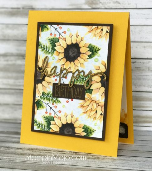 Stampin UP Painted Autumn DSP, Avery Elle Handwritten Notes, Birthday card idea Michelle Gleeson Stampinup SU