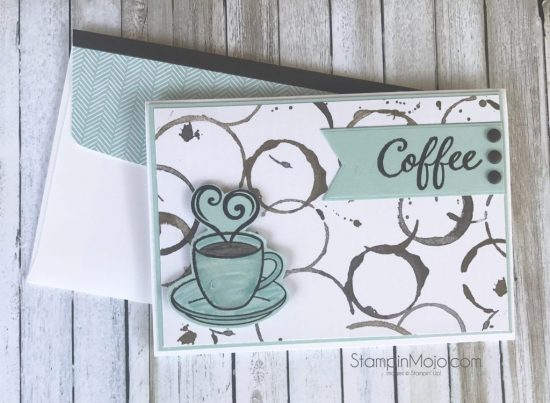 Stampin Up Coffee Break DSP Sugar Pea Designs The Perfect Blend Coffee Addict Thinking of You card Michelle Gleeson