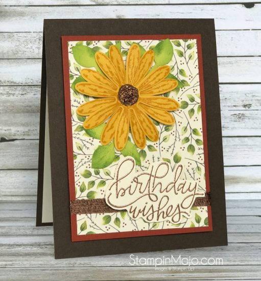 Stampin Up Daisy Delight Painted Autumn DSP MTF Handwritten Happiness Birhtday card idea Mcihelle Gleeson Stampinup SU