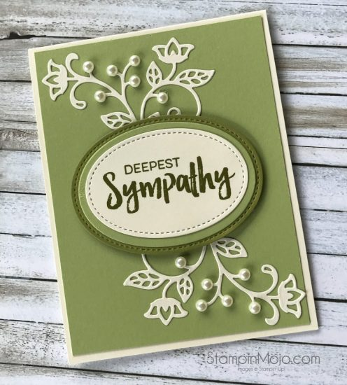 Stampin Up Flourish Thinlits Sympahty Card Michelle Gleeson Stampinup SU