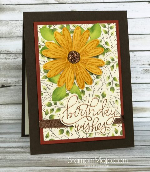 Stampin Up Painted Autumn DSP Daisy Delight MFT Handwritten Happiness Birthday card ideas Michelle Gleeson Stampinup SU