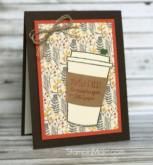 Stampin Up Painted Autumn DSP Merry Cafe Coffee Cups Framelits Thinking of You Michelle Gleeson Stampinup SU