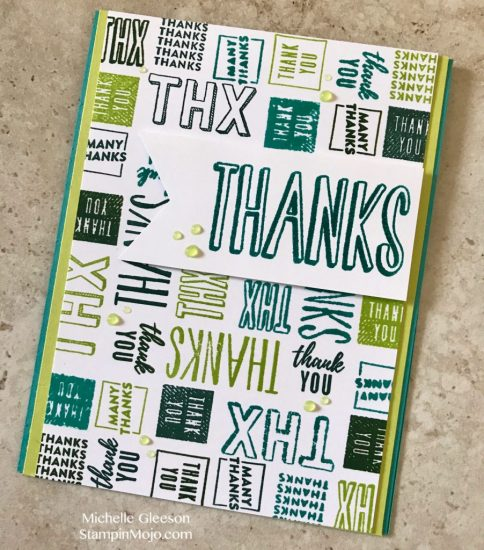 Concord&9th Many Thanks Turnabout Thank You card Michelle Gleeson