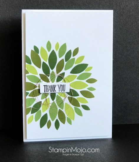 Concord & 9th Dahlia stamp set and die Thank you card idea Michelle Gleeson SU All Things Thanks